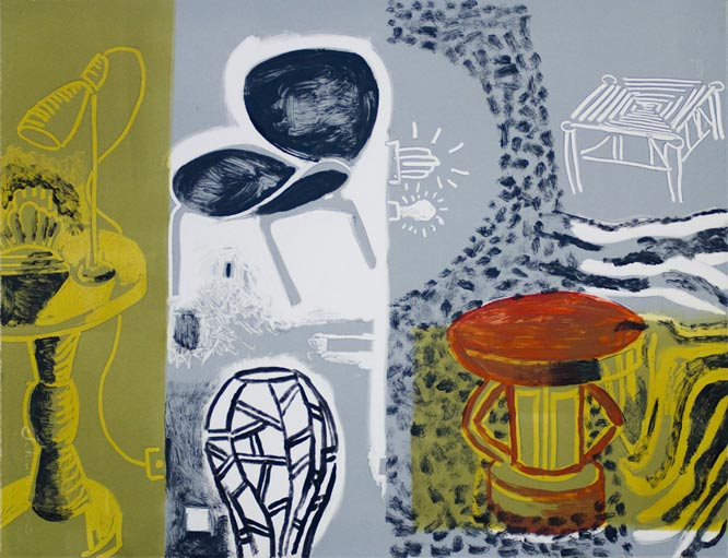 Andre Naude, south african monoprints, monoprints