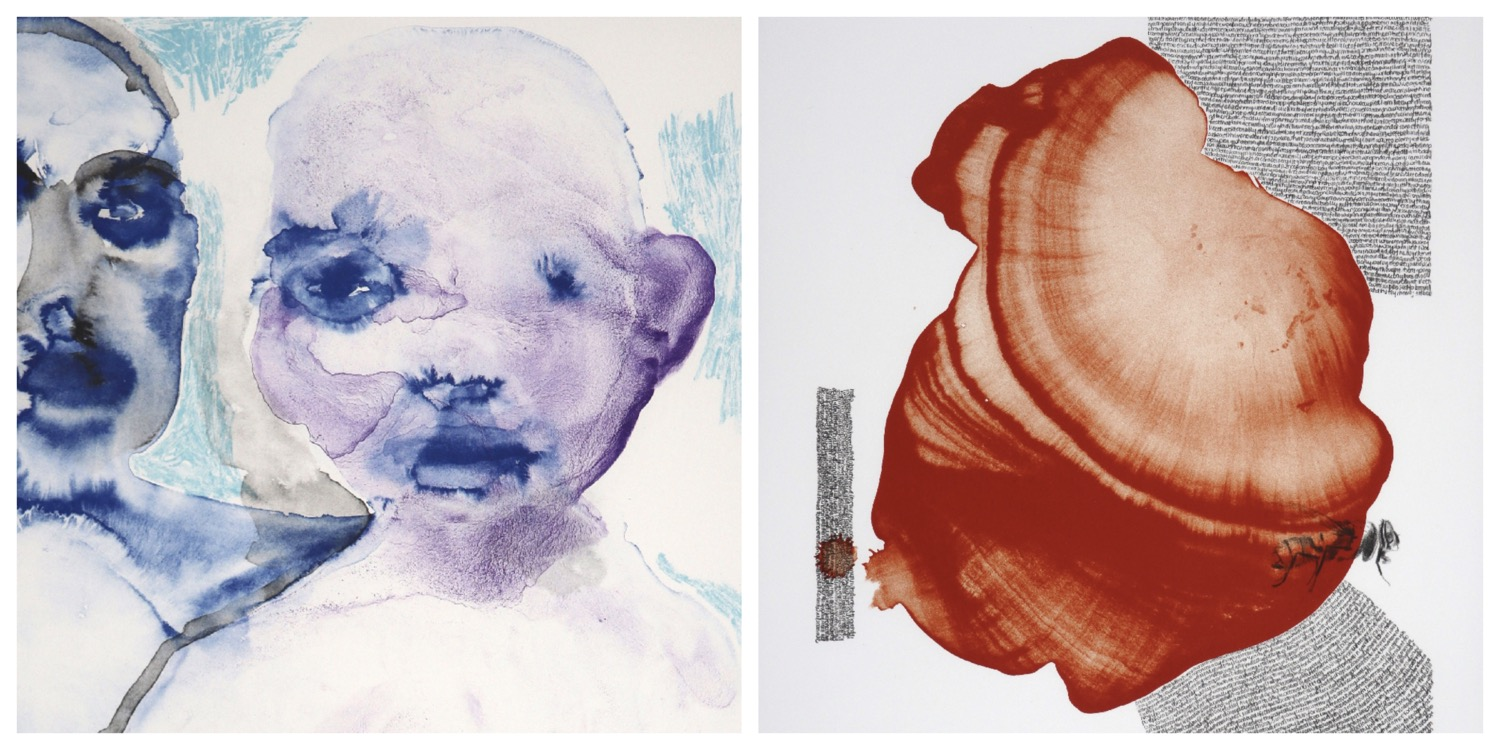 Details of two prints by Banele Khoza that are the link to his page on the website