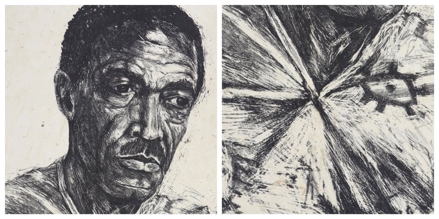 Details of two prints by Gary Frier that are the link to his page on the website
