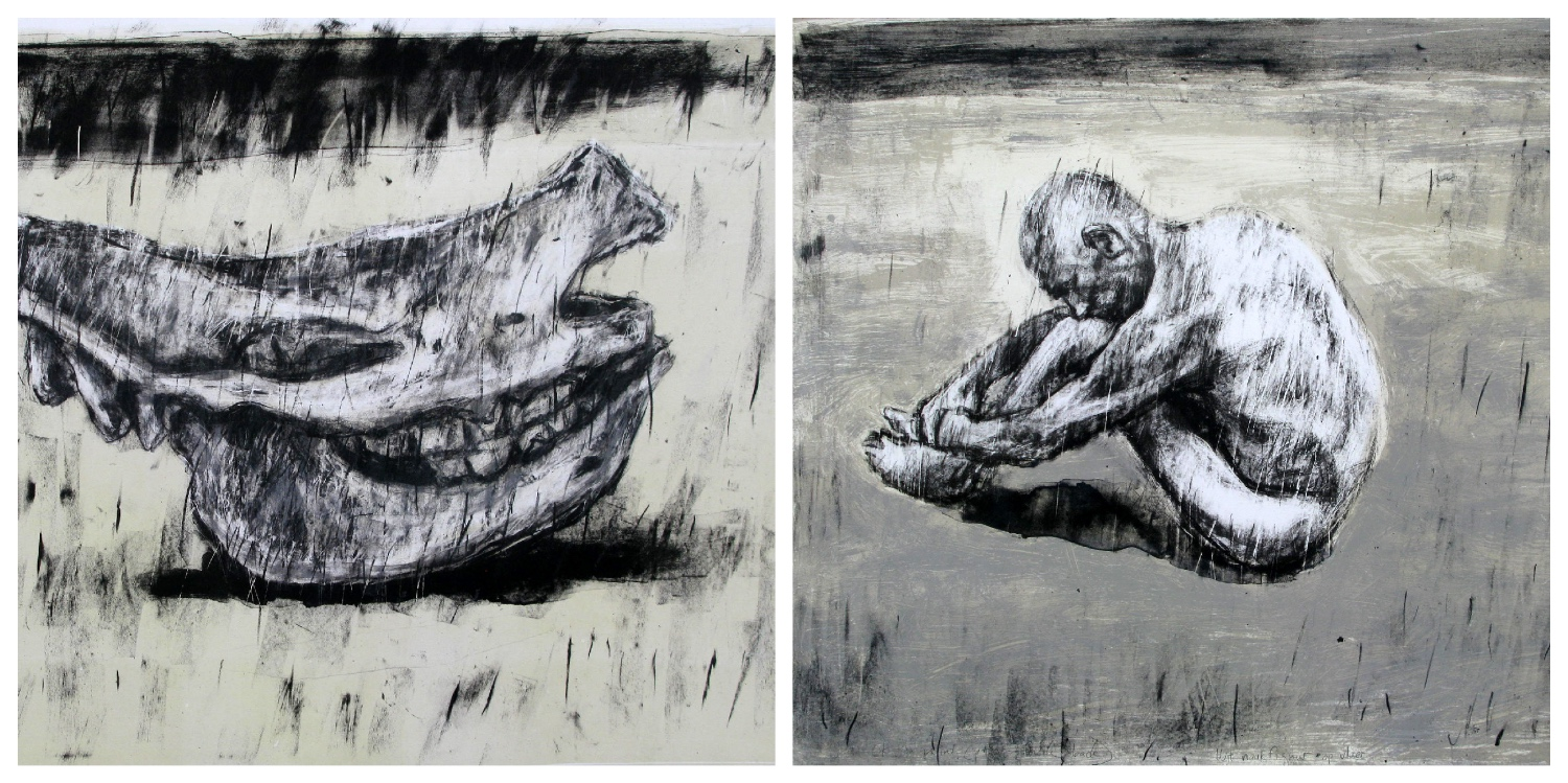 Details of two prints by Johann Louw that are the link to his page on the website