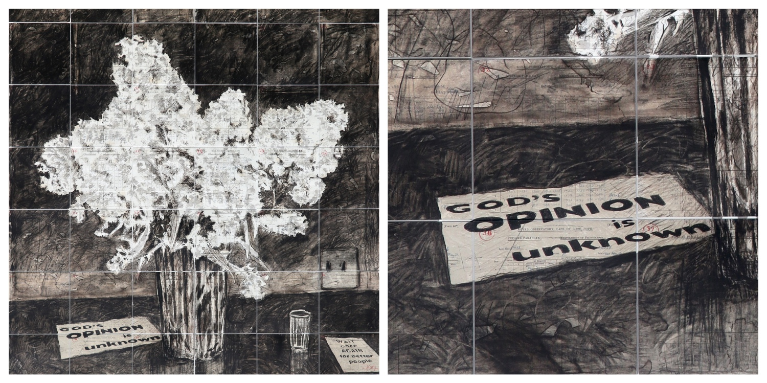 Details of two prints by William Kentridge that are the link to his page on the website