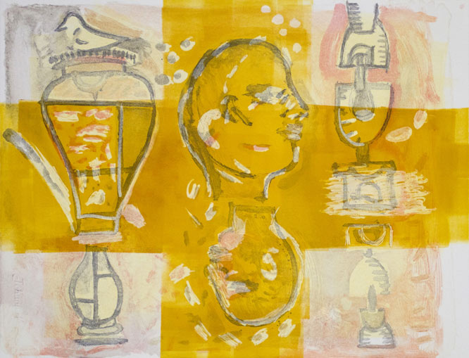 Andre naude, south african art, monotype