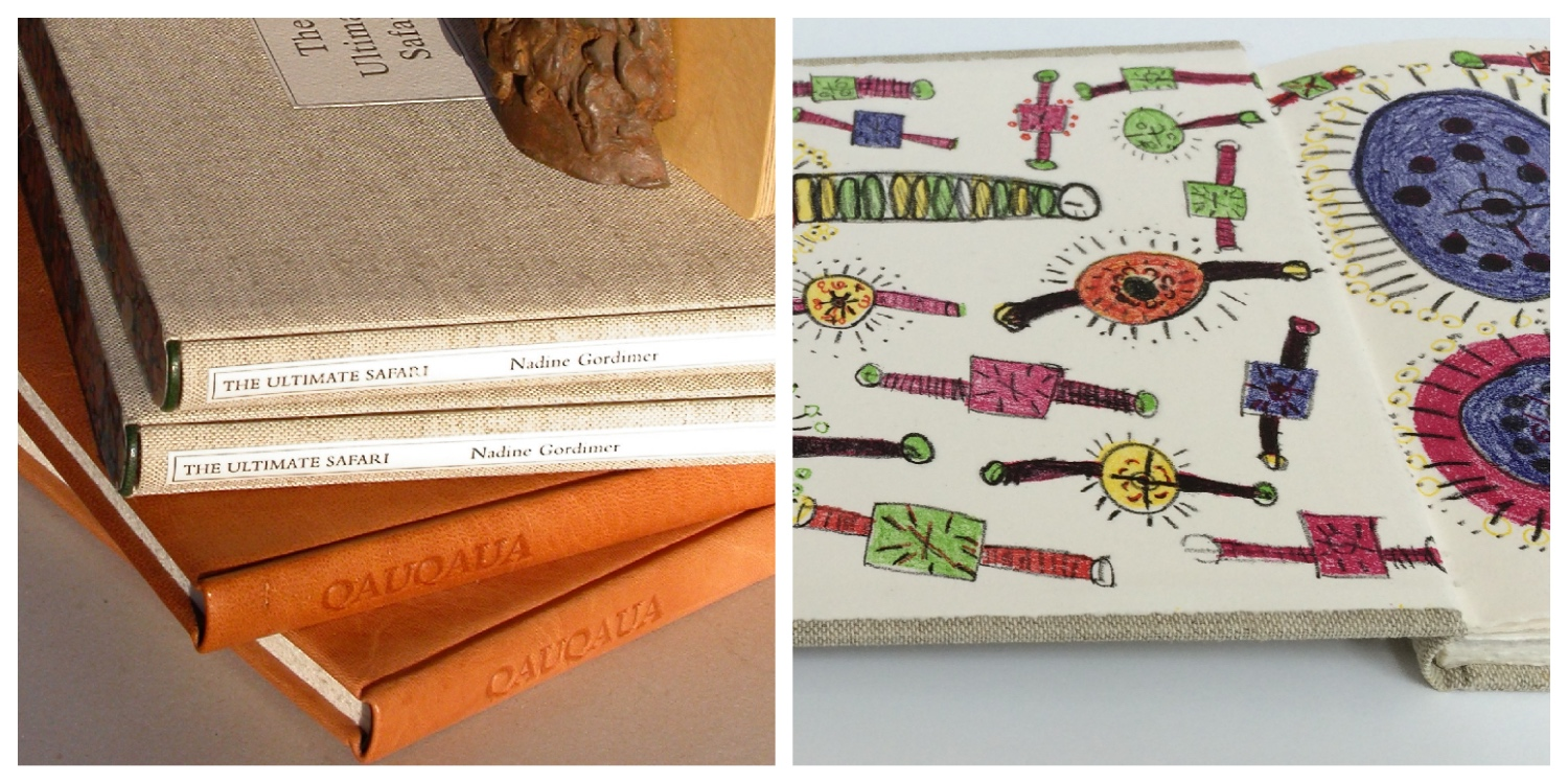A colourful selection of limited edition artists' books to illustrate link to the artists' book page on the website