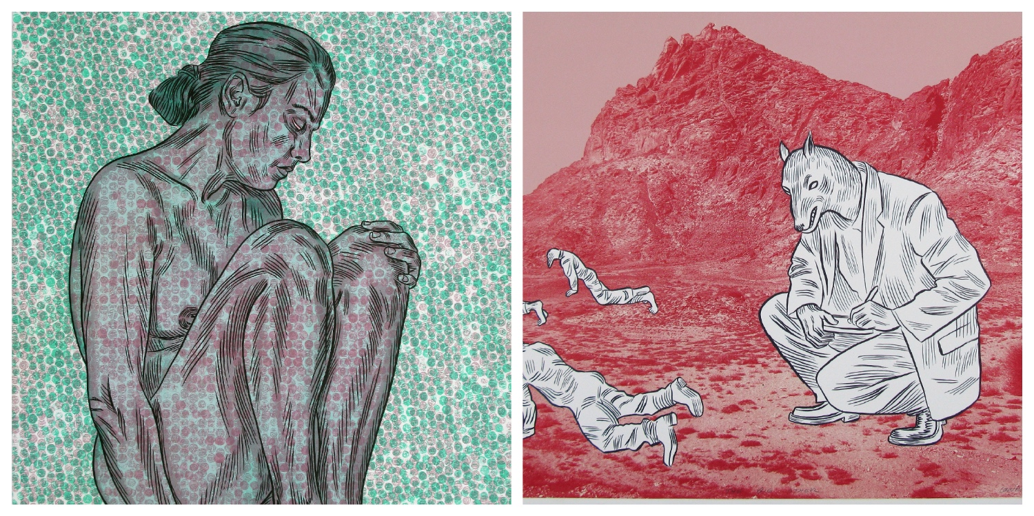 Details of two lithographs by Conrad Botes that are the link to his page on the website.