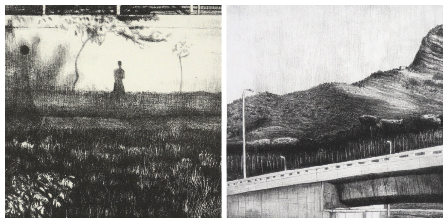 Details of two prints by Georgina Berens  to link to her page on the website